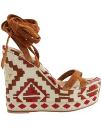 Gianvito Rossi - Pre-owned Ecru Cloth Sandals - Lyst