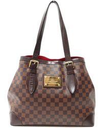 Louis Vuitton - Pre-owned Hampstead Cloth Handbag - Lyst