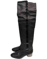 Chanel - Leather Boots - Lyst