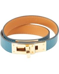 Hermès - Pre-owned Kelly Double Tour Leather Bracelet - Lyst