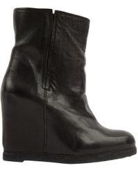 Stuart Weitzman - Black Leather Boots - Lyst