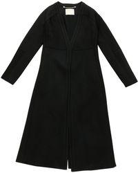 fb77aad4cb Maje Woman Valleane Cotton-blend Twill Jacket Black in Black - Lyst