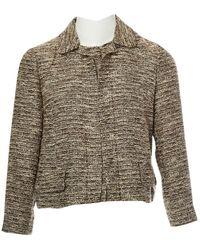 Chloé - Brown Cotton Jacket - Lyst