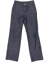 A.P.C. - Large Jeans - Lyst