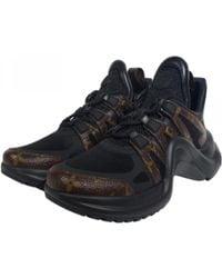 64796b7e542e Louis Vuitton - Archlight Black Patent Leather Trainers - Lyst