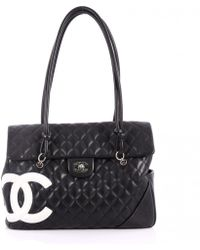 Chanel - Pre-owned Cambon Leather Handbag - Lyst