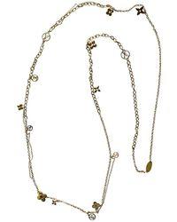 Louis Vuitton - Monogram Gold Metal Necklace - Lyst