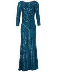 Jenny Packham - Robe longue en soie - Lyst