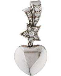 Chanel | Pre-owned Comète White Gold Pendant | Lyst