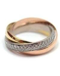 Cartier - Pre-owned Trinity Gold Yellow Gold Rings - Lyst