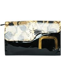 09e10ba11ca3 Roger Vivier - Pre-owned Black Leather Clutch Bag - Lyst
