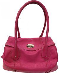 Lancel - Pink Leather Handbag - Lyst