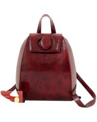 Cartier - Pre-owned Patent Leather Backpack - Lyst