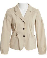 15467f304ec Lyst - Miu Miu Sequin Contrast Collar Wool Jacket