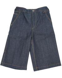 Louis Vuitton - Blue Cotton - Elasthane Shorts - Lyst