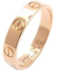 Cartier | Love Pink Gold Ring | Lyst