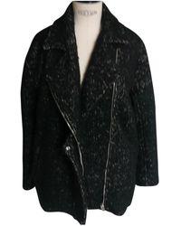 IRO - Black Wool Coat - Lyst