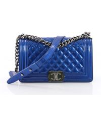 Chanel - Boy Patent Leather Crossbody Bag - Lyst 3f2e49b77f22b
