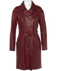 Emilio Pucci - Pre-owned Leather Coat - Lyst