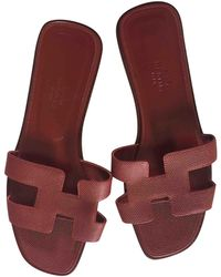Pre-owned - Patent leather sandals Herm lGw7b44uK