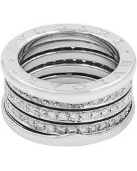 BVLGARI - B.zero1 White White Gold Ring - Lyst