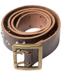 Zadig & Voltaire - Brown Leather Belt - Lyst