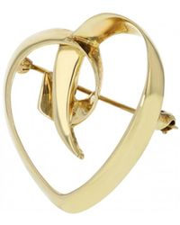 Tiffany & Co. - Paloma Picasso Yellow Gold Pin & Brooche - Lyst