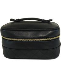 Chanel - Pre-owned Leather Vanity Case - Lyst