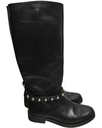 Moschino - Leather Biker Boots - Lyst