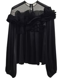 Givenchy - Black Silk Top - Lyst