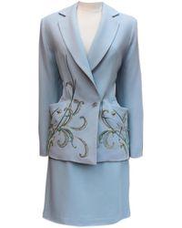 Dior - Pre-owned Vintage Blue Other Jacket - Lyst
