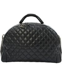 Chanel - Leather Travel Bag - Lyst