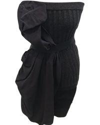Lanvin - Wool Mini Dress - Lyst