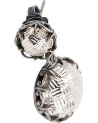 Bottega Veneta - Pre-owned Silver Metal Earrings - Lyst