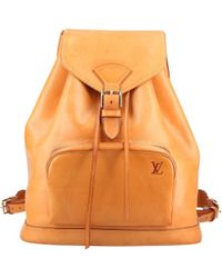 Louis Vuitton - Pre-owned Montsouris Leather Backpack - Lyst