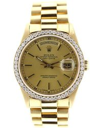Rolex - Day Date 36mm Gold Yellow Gold Watches - Lyst