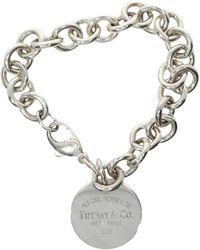7491f271522e3 Lyst - Tiffany & Co. Pre-owned Return To Tiffany Silver Metal ...