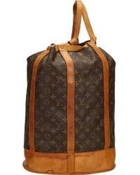 Louis Vuitton - Pre-owned Vintage Randonnée Brown Cloth Backpacks - Lyst