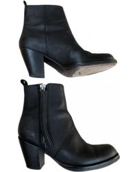 Acne Studios - Pistol Leather Western Boots - Lyst
