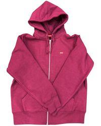 Supreme - Pre-owned Purple Cotton Knitwear & Sweatshirt - Lyst