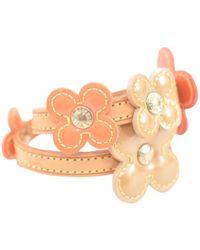 Louis Vuitton - Pre-owned Vintage Orange Patent Leather Bracelets - Lyst