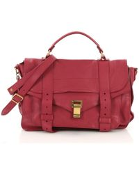 Proenza Schouler - Ps1 Pink Leather Handbag - Lyst