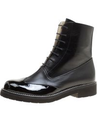 Chanel - Black Leather Boots - Lyst