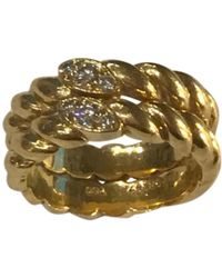 Van Cleef & Arpels - Vintage Gold Yellow Gold Ring - Lyst