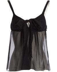 Chanel - Black Cotton Top - Lyst