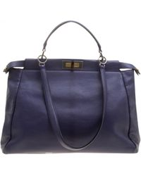 Fendi - Peekaboo Purple Leather Handbag - Lyst 427e29cf13195