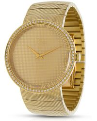 Dior - Pre-owned D Beige Yellow Gold Watches - Lyst