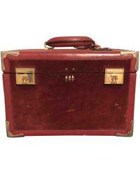 Cartier - Burgundy Leather Travel Bag - Lyst