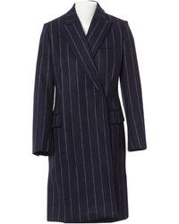 Stella McCartney - Navy Wool Coat - Lyst