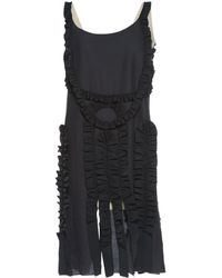 Lanvin - Pre-owned Anthracite Silk Dresses - Lyst